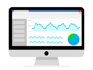 écran avec analyse courbes et datas Google Analytics