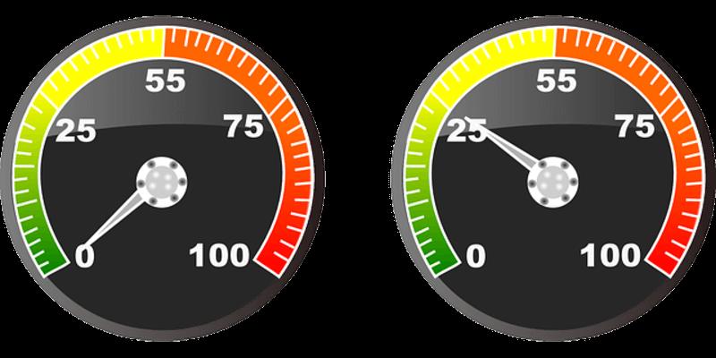 jauges de vitesse de chargement