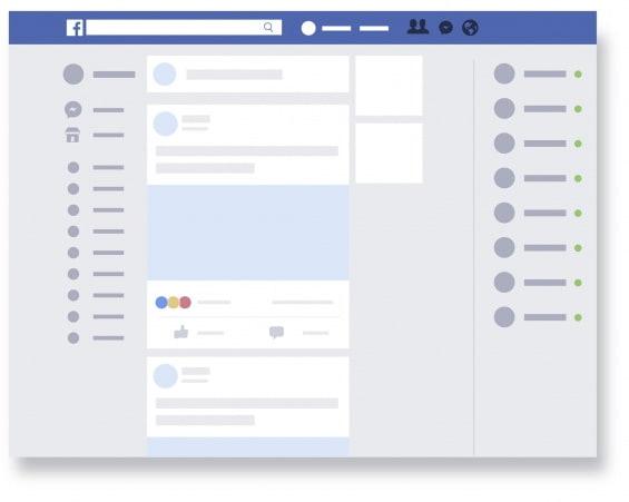 Homepage de facebook
