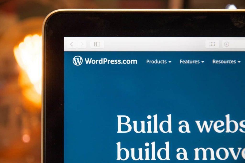 Page d'accueil du CMS Wordpress