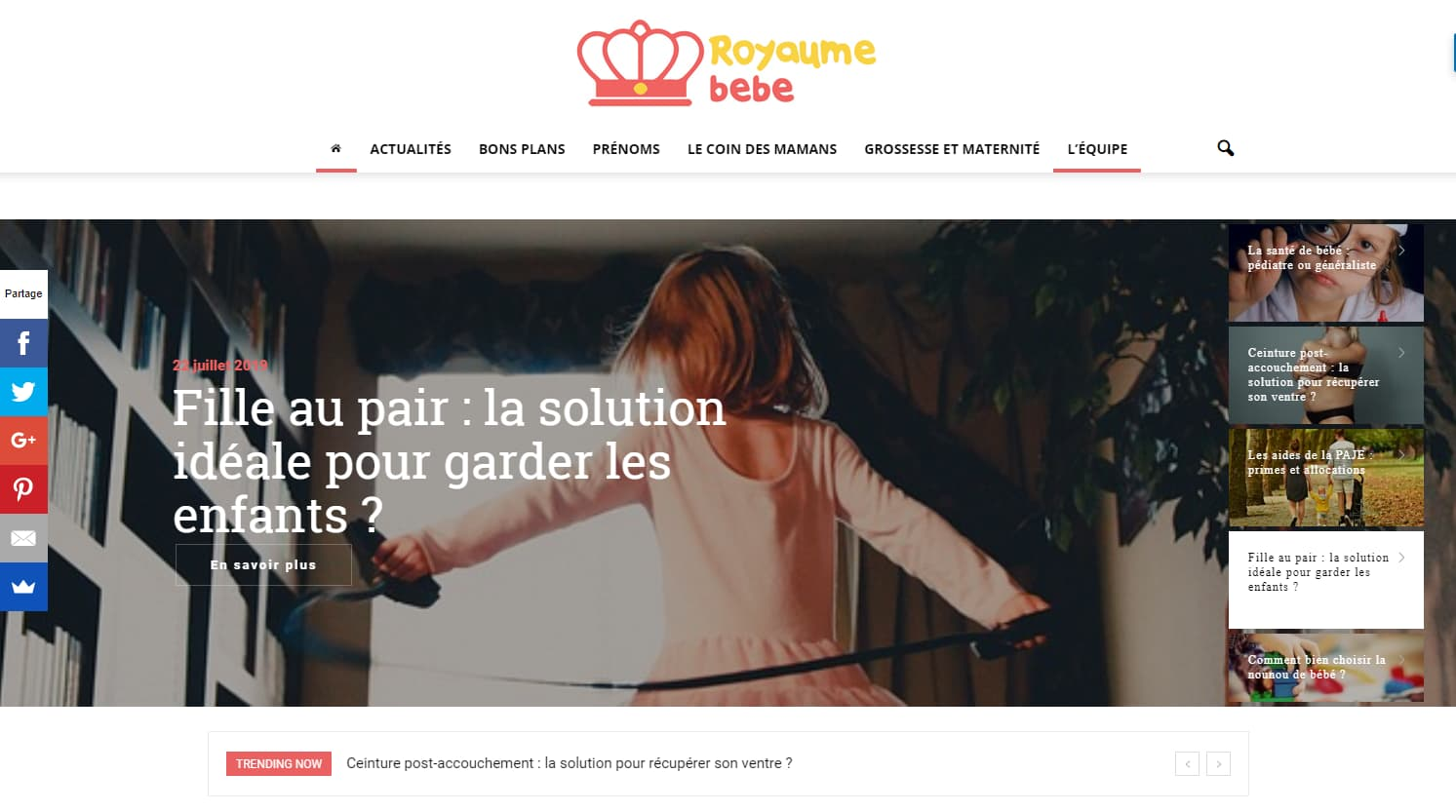 website royaume bebe