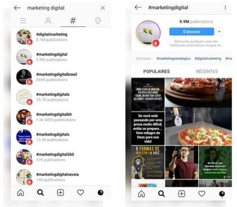 Buscador de hashtags en Instagram