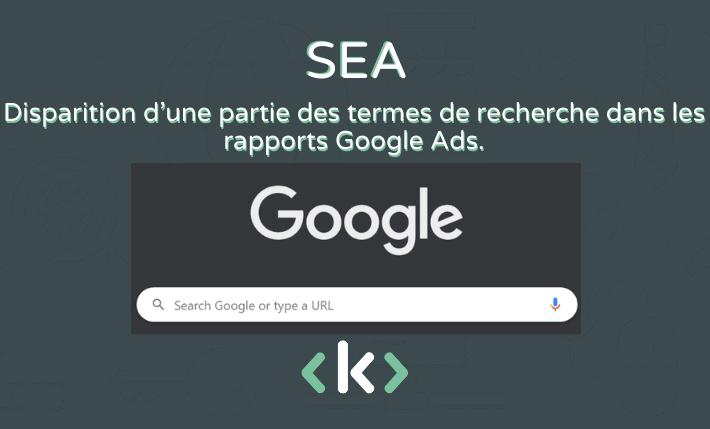 disparition d'une partie des termes de recherche google ads