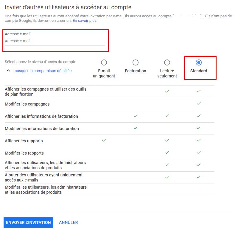 invitation google ads