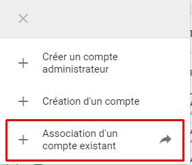association d'un compte exitant google ads